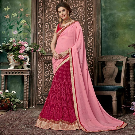 How to wear saree - Lehenga Style Step by Step