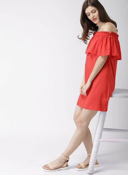 Off-Shoulder Flared Dress