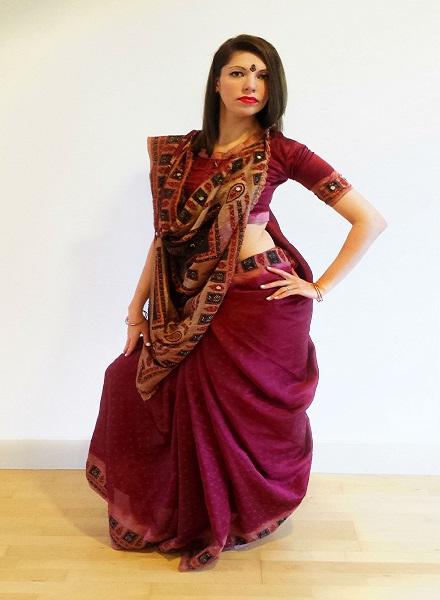 How to wear saree - Rajrani Style Step by Step