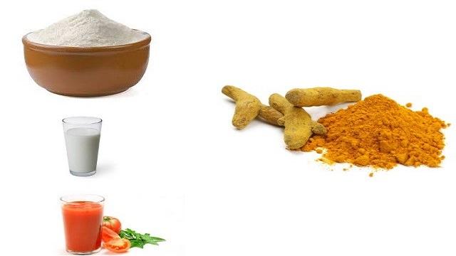 Rice Flour, Tomato Juice & Turmeric