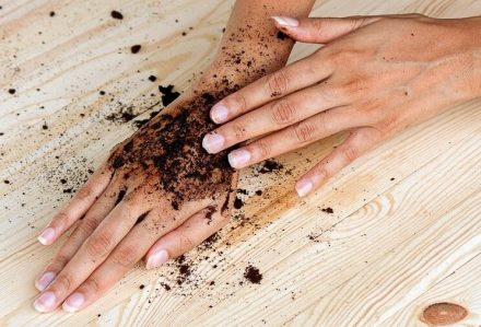 Apply Coffee And Honey Scrub