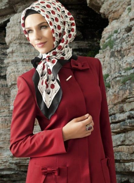 Front Knot Hijab Style