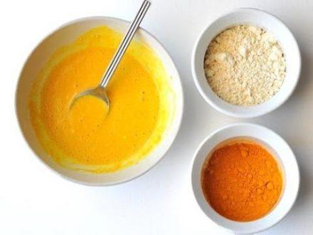 Apply Turmeric And Bengal Gram Flour Pack