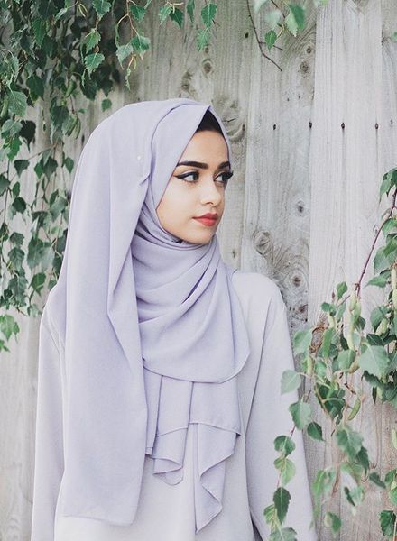 Side Fall Arab Style Hijab
