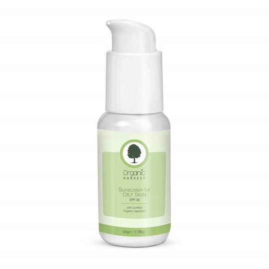 Organic Harvest Sunscreen For Oily Skin, SPF 30