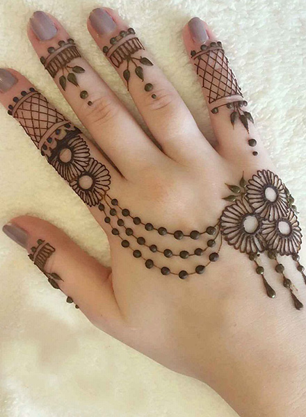 arabic mehndi designs fingers