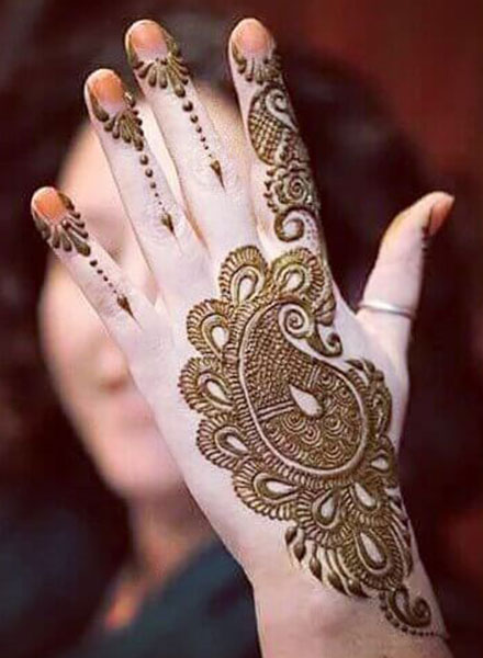 arabic mehndi designs for back side of hand simple
