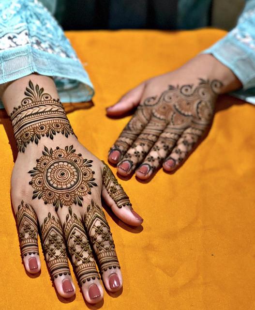 easy bridal mehandi designs