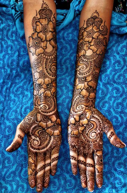 75 Unique Bridal Mehendi Designs For Hands Feet,Japanese Style Japanese Cherry Blossom Tattoo Designs
