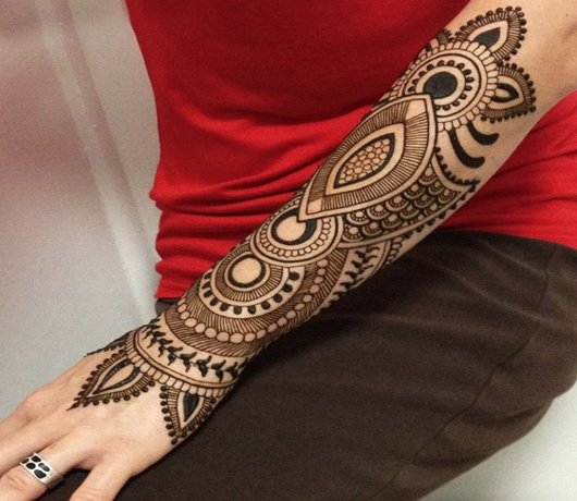 Indo-western mehndi design