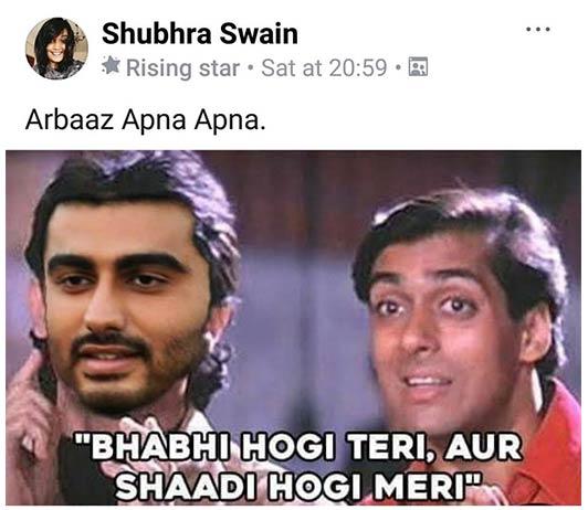 Arjun Malaika Meme