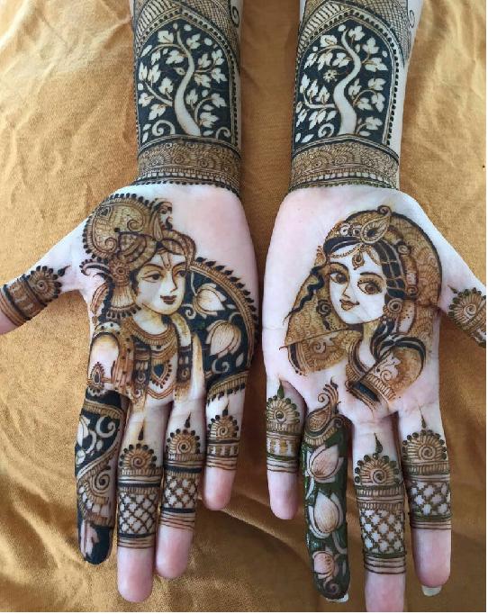 Krishna mehndi design
